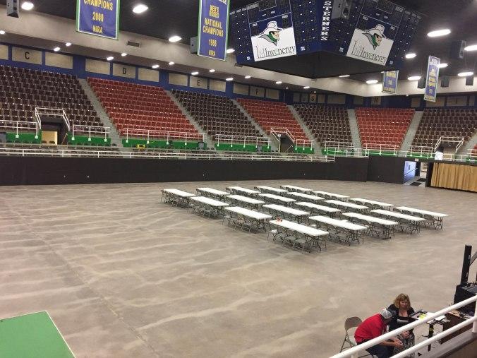 Coliseum floor