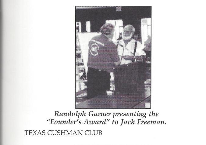 1995 13th State Meet FOunders Award Jack Freeman