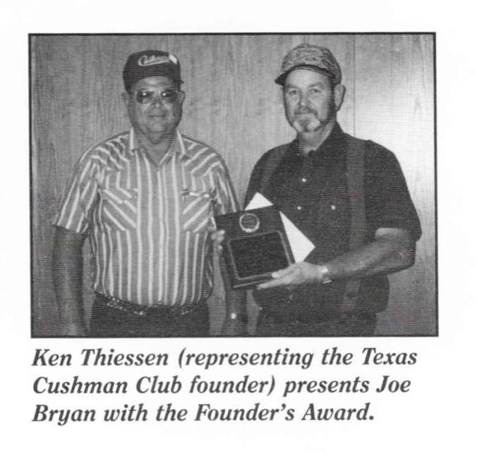 1997 Founder Award Joe Bryan