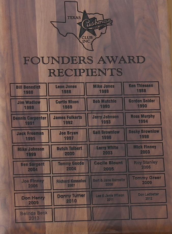 2013 Founder's Award